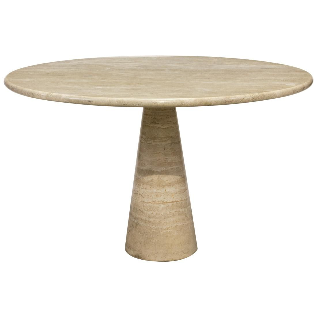 Angelo Mangiarotti (Attr.)- Travertine Marble Table
