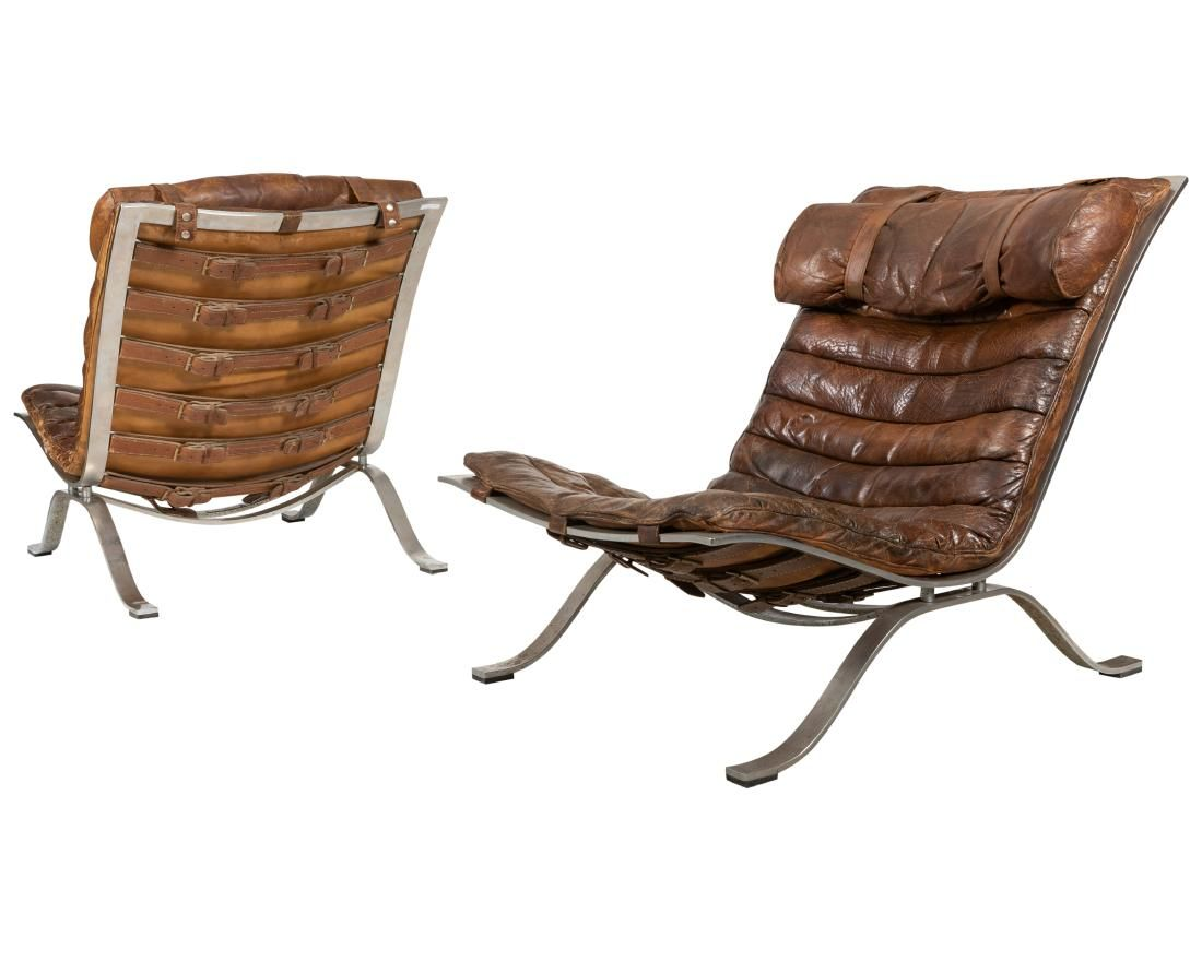 Arne Norell - Ari Lounge Chairs - Pair - Labeled