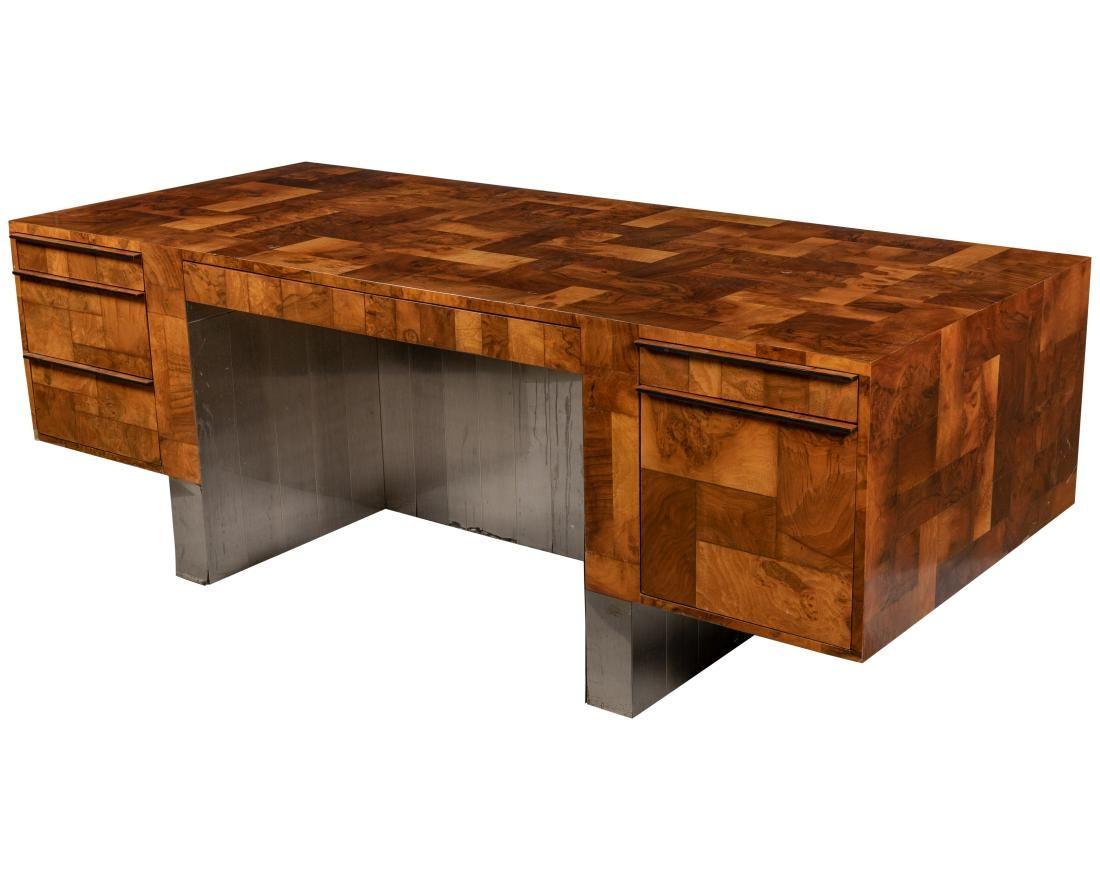 Paul Evans - Patchwork Burl Executive Desk