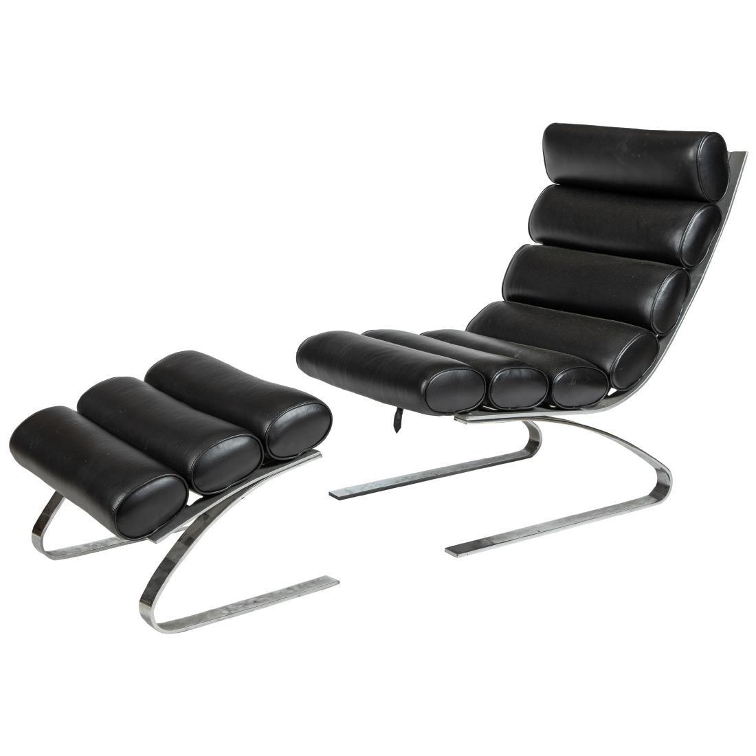DIA - Cantilever Lounge Chair & Ottoman