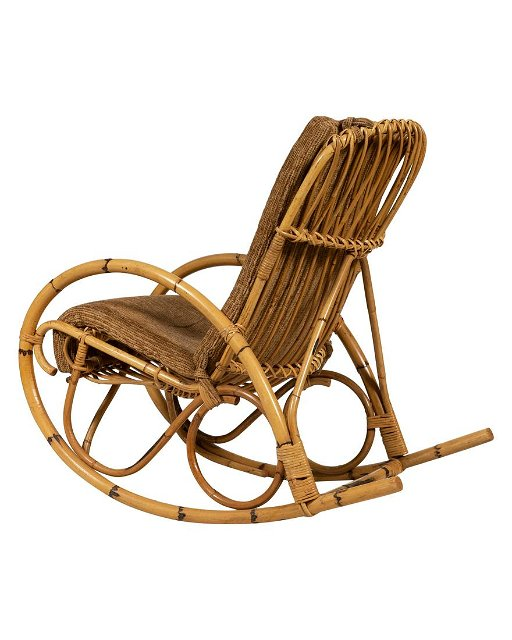Terrific Dal Vera Italian Rattan Rocking Chair Gmtry Best Dining Table And Chair Ideas Images Gmtryco