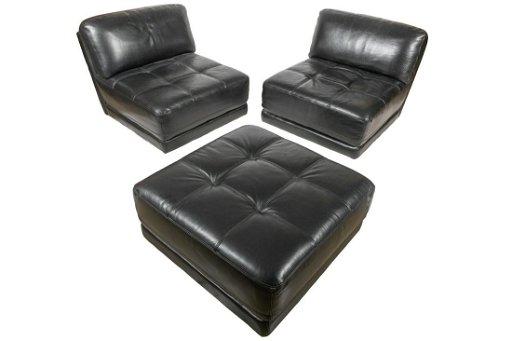Italian Leather 3 Piece Modular Sofa