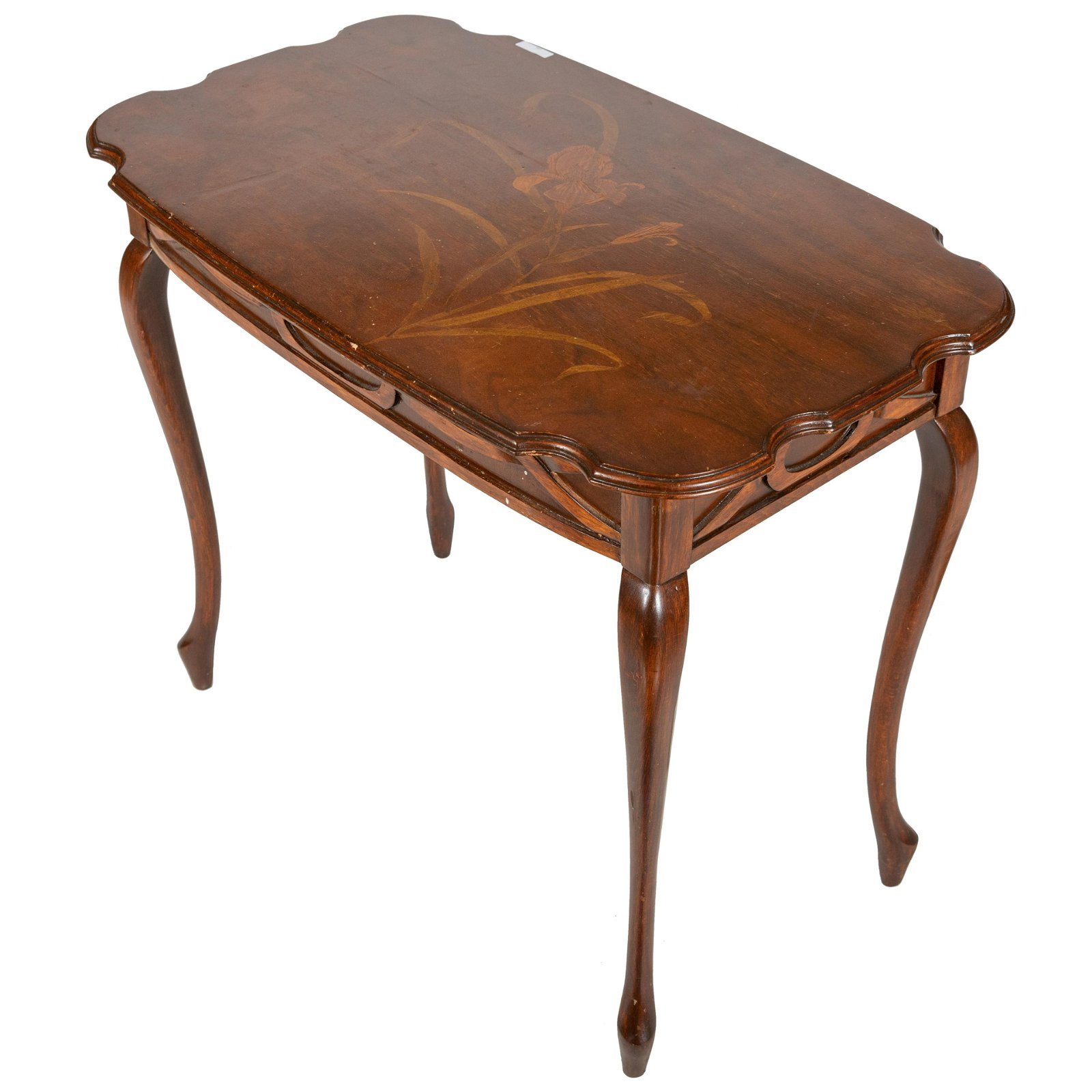 Art Nouveau Style Inlaid Lamp Table