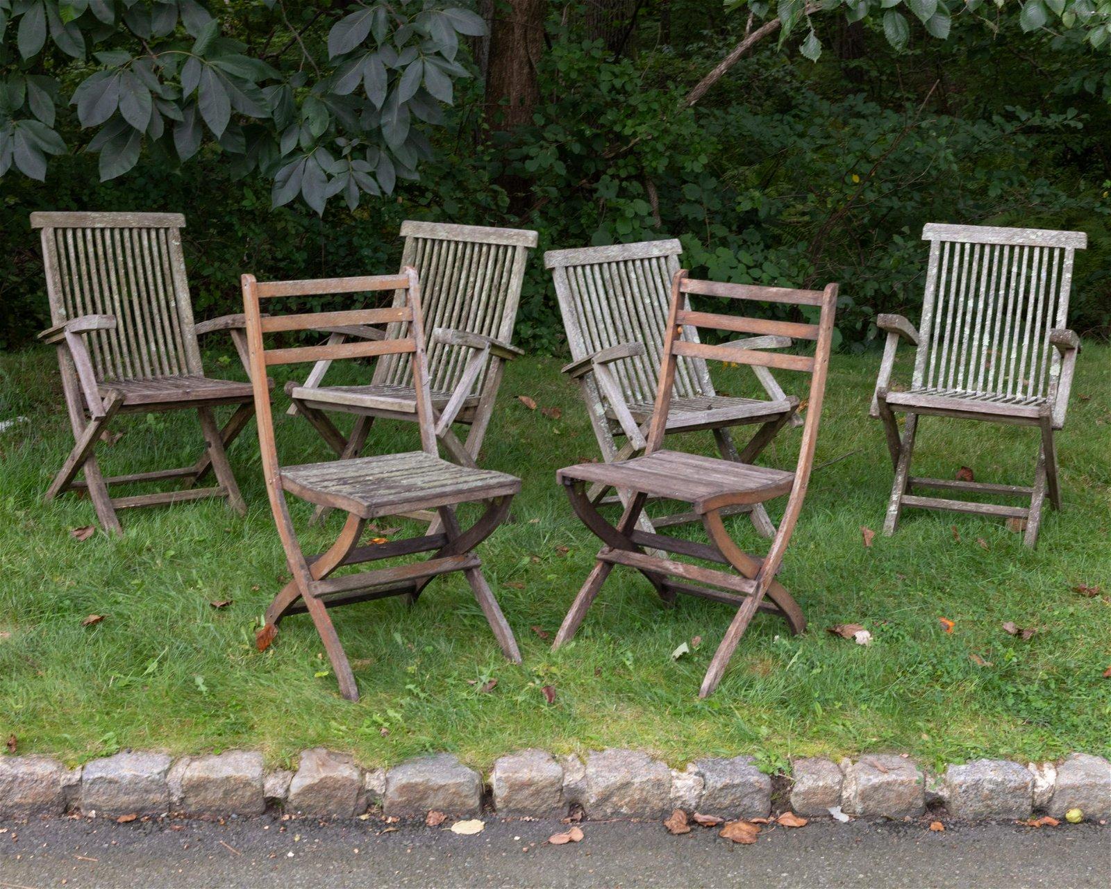 Teak Folding Chairs - 6