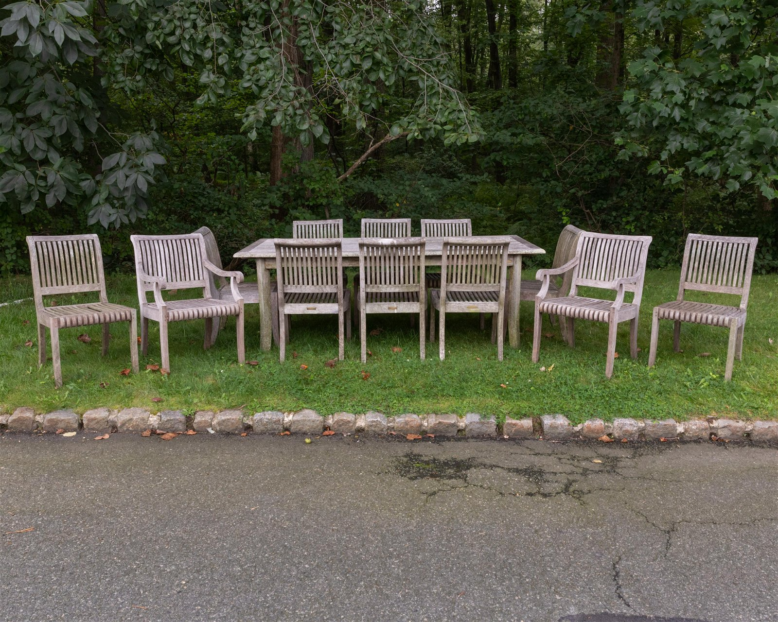 Smith & Hawken - Teak Table and 12 Chairs
