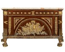 French Style Marble Top Palace Commode