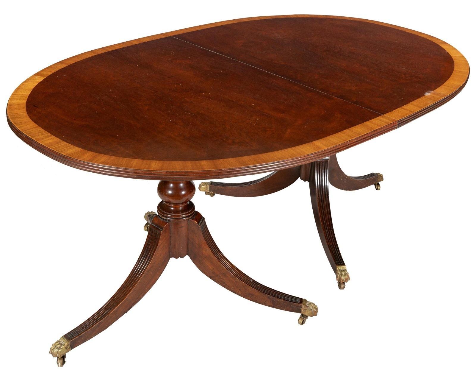 Banded Mahogany Dining Table