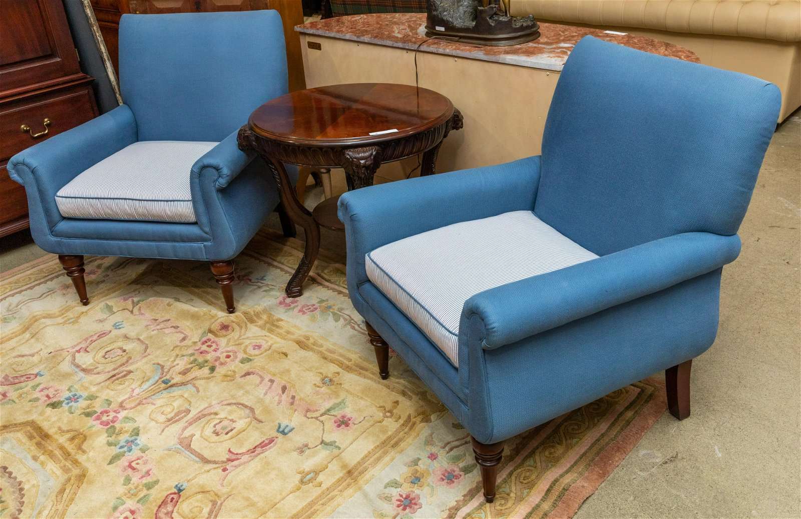 Tudor Style Library Chairs - Pair