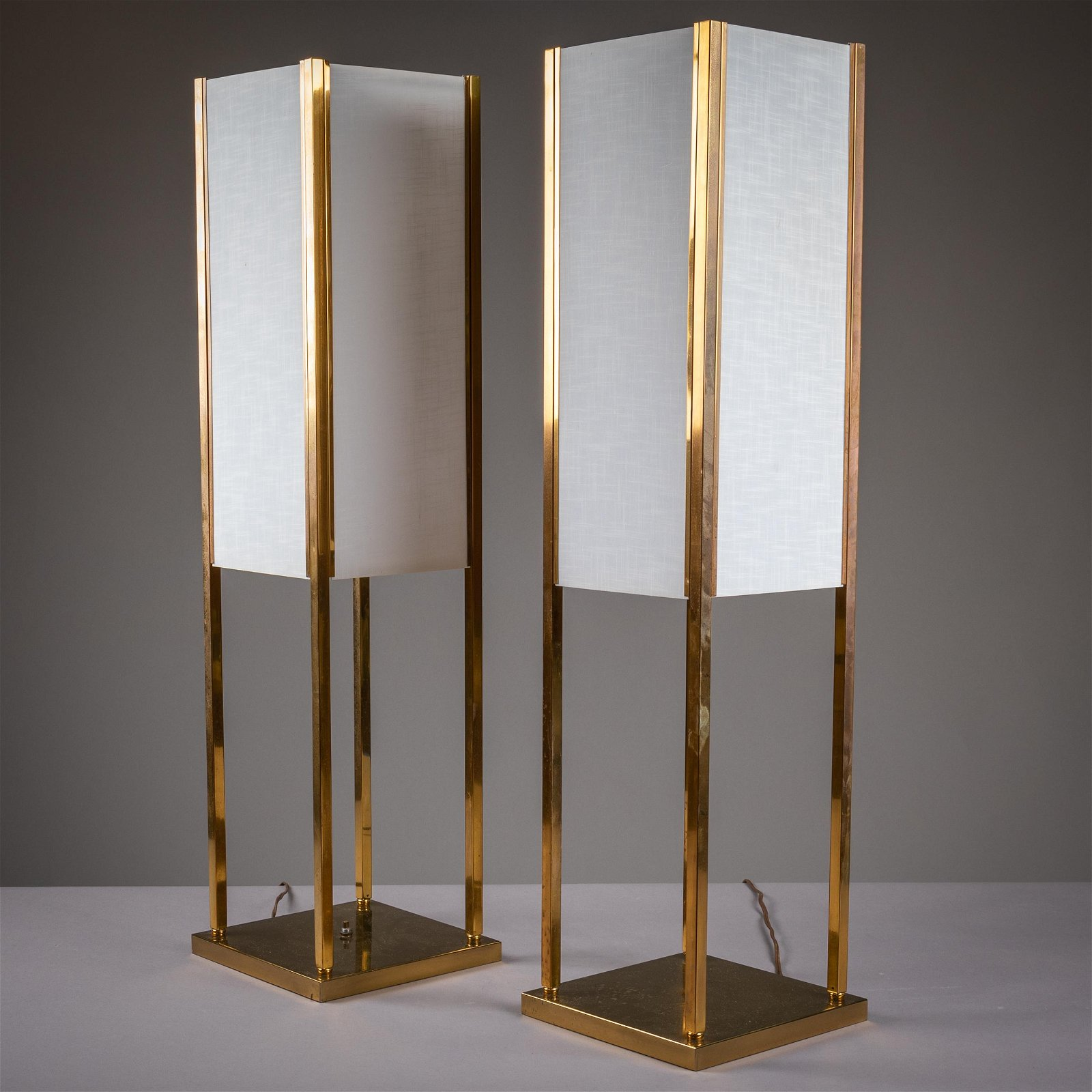 Brass Mid Century Modern Table Lamps