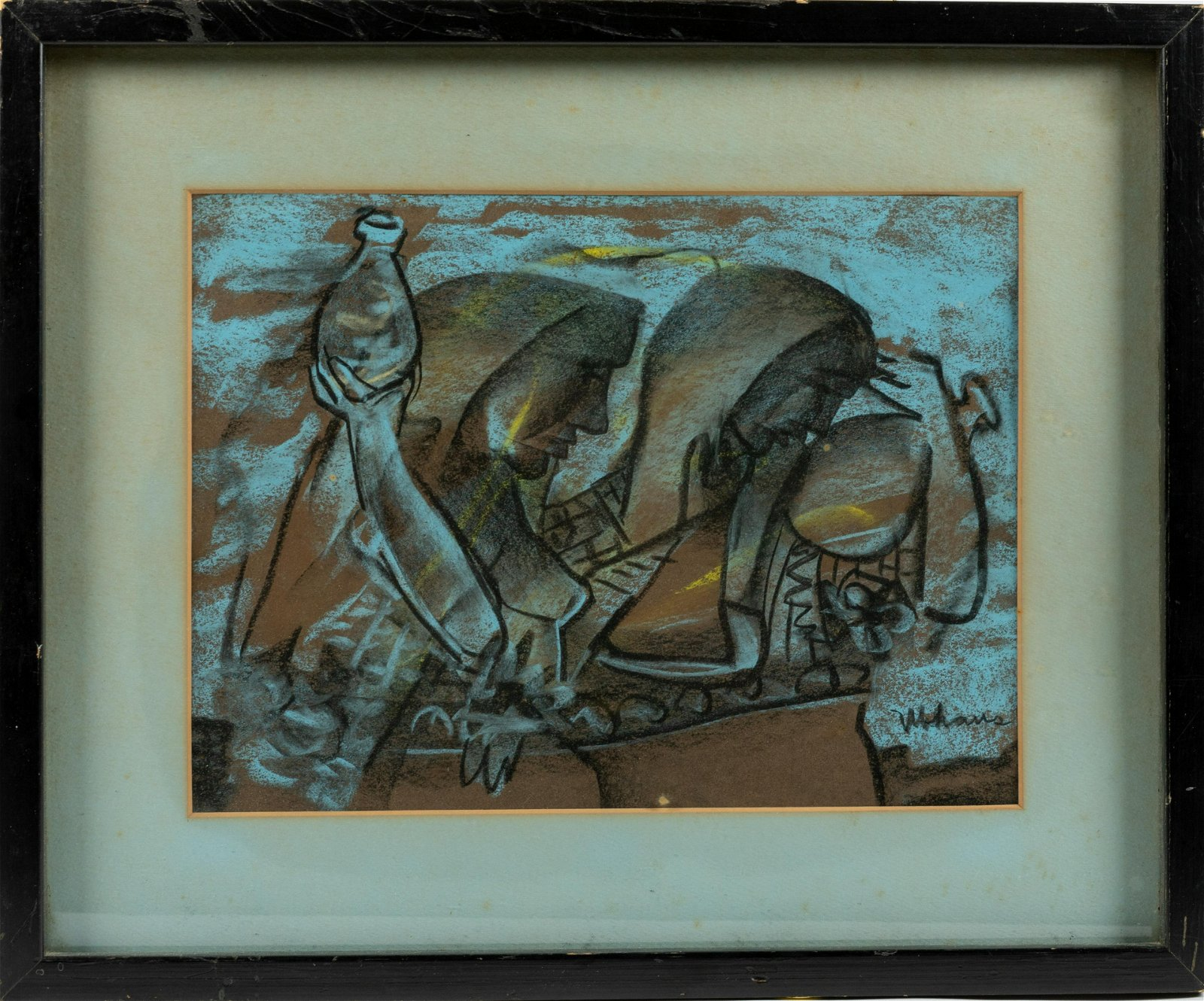 Robert Ubhaus - Cubist Pastel on Paper