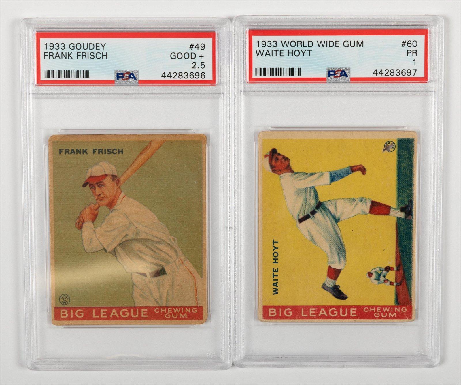 Goudey - 1933 Frisch & Hoyt Baseball Cards