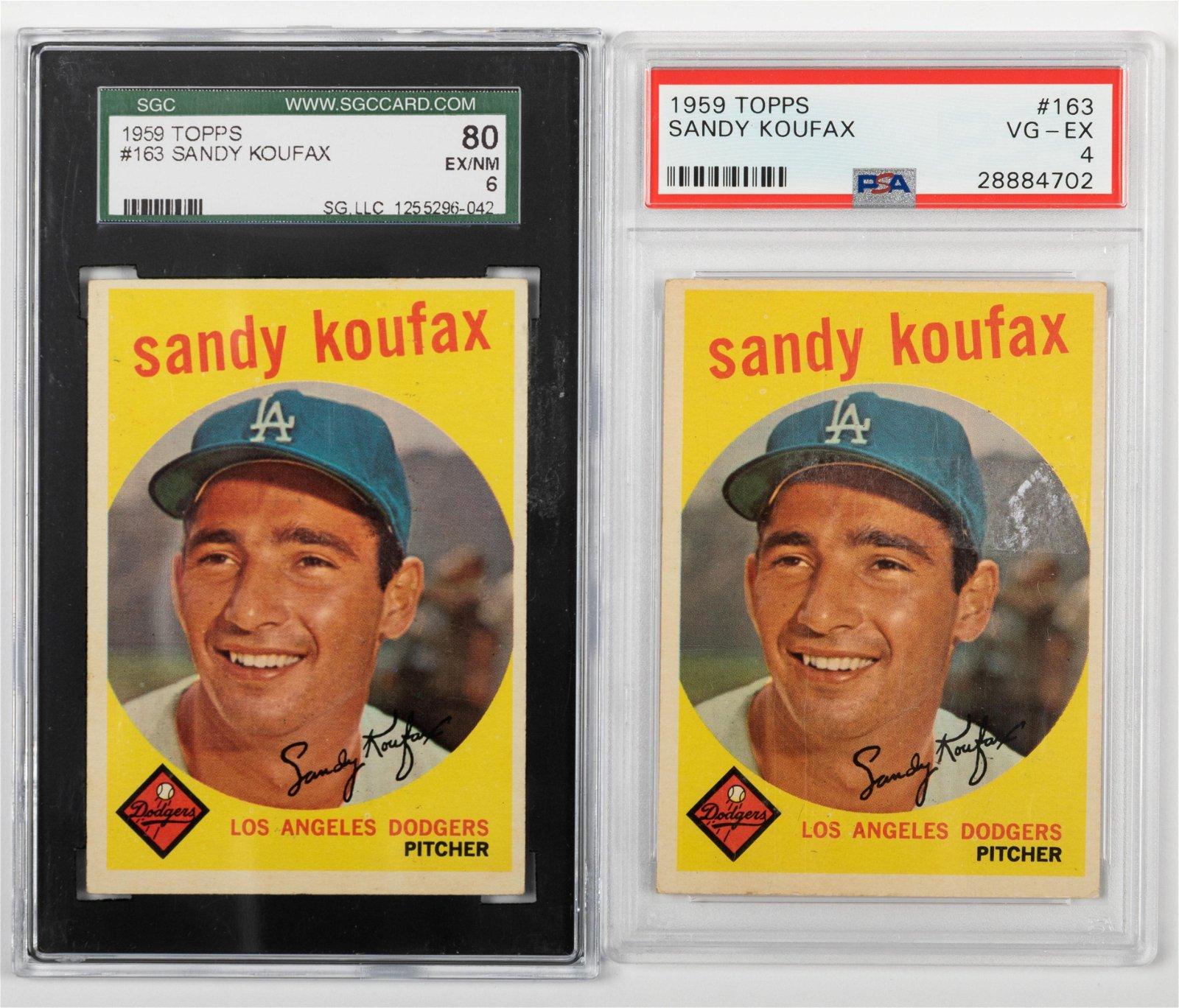 Topps - 1959 Sandy Koufax Baseball Cards - 2