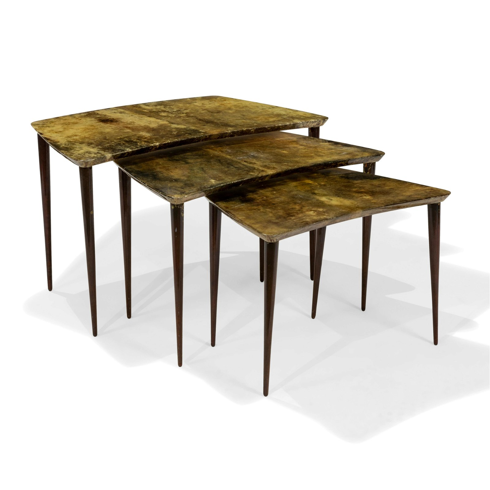 Aldo Tura - Goatskin Nesting Tables