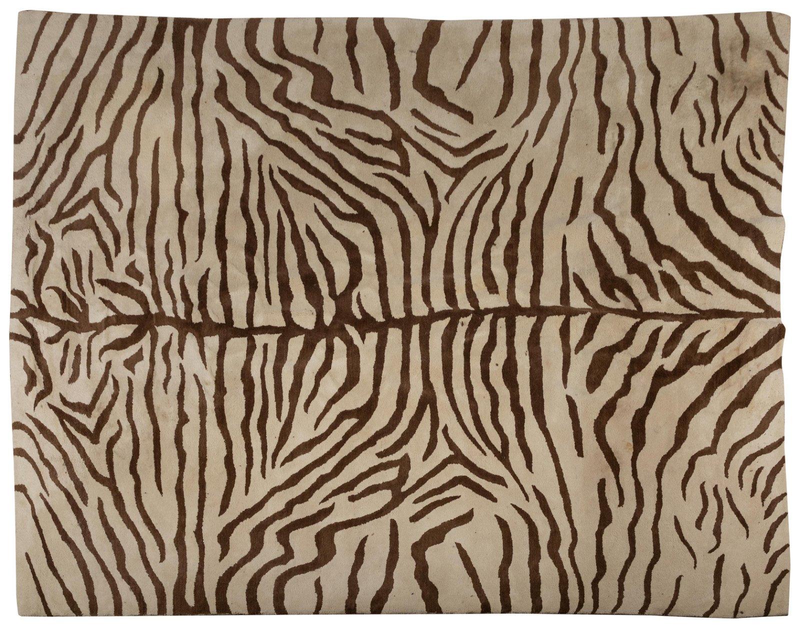 Wool Zebra Pattern Rug