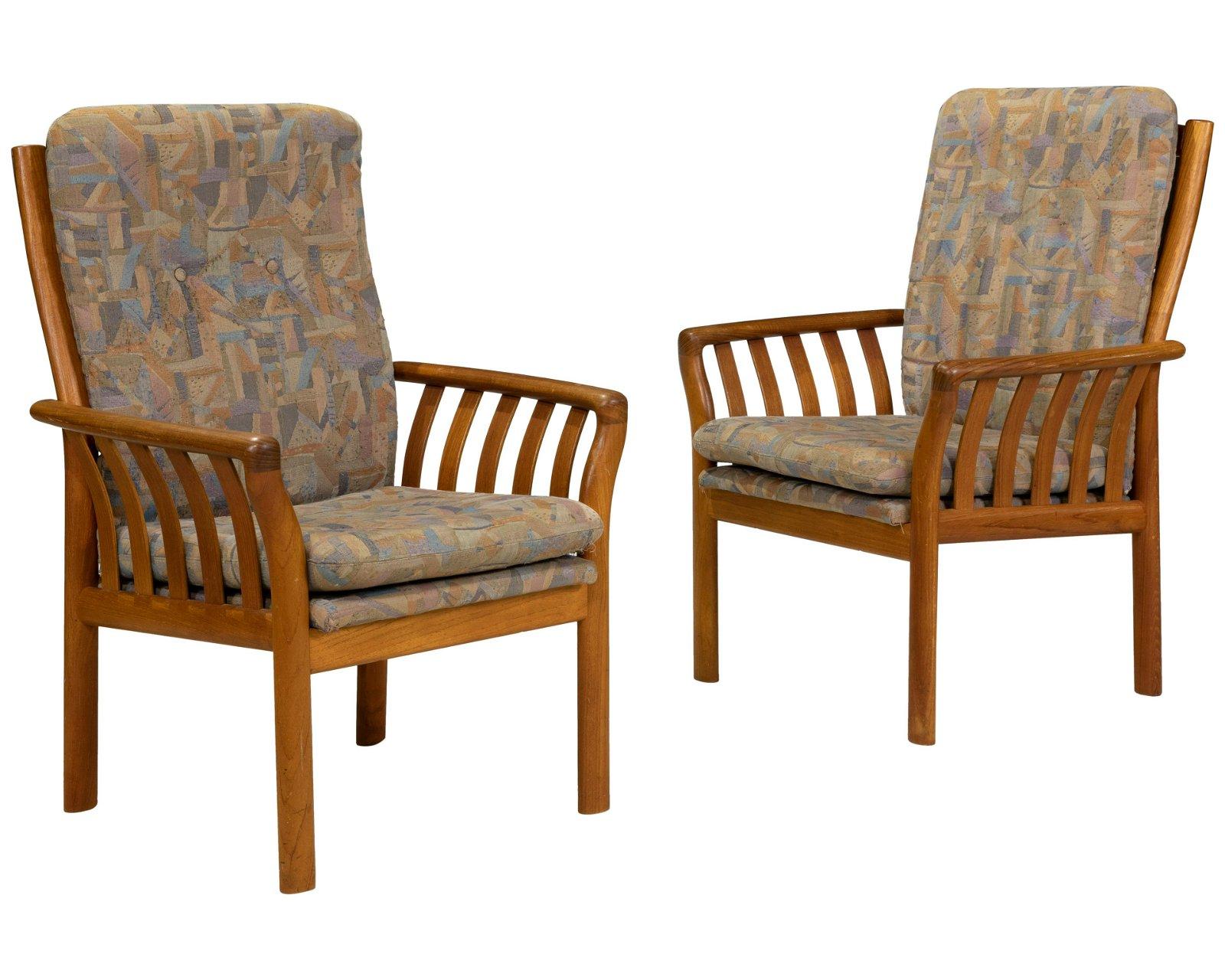 Danish Style Teak Arm Chairs