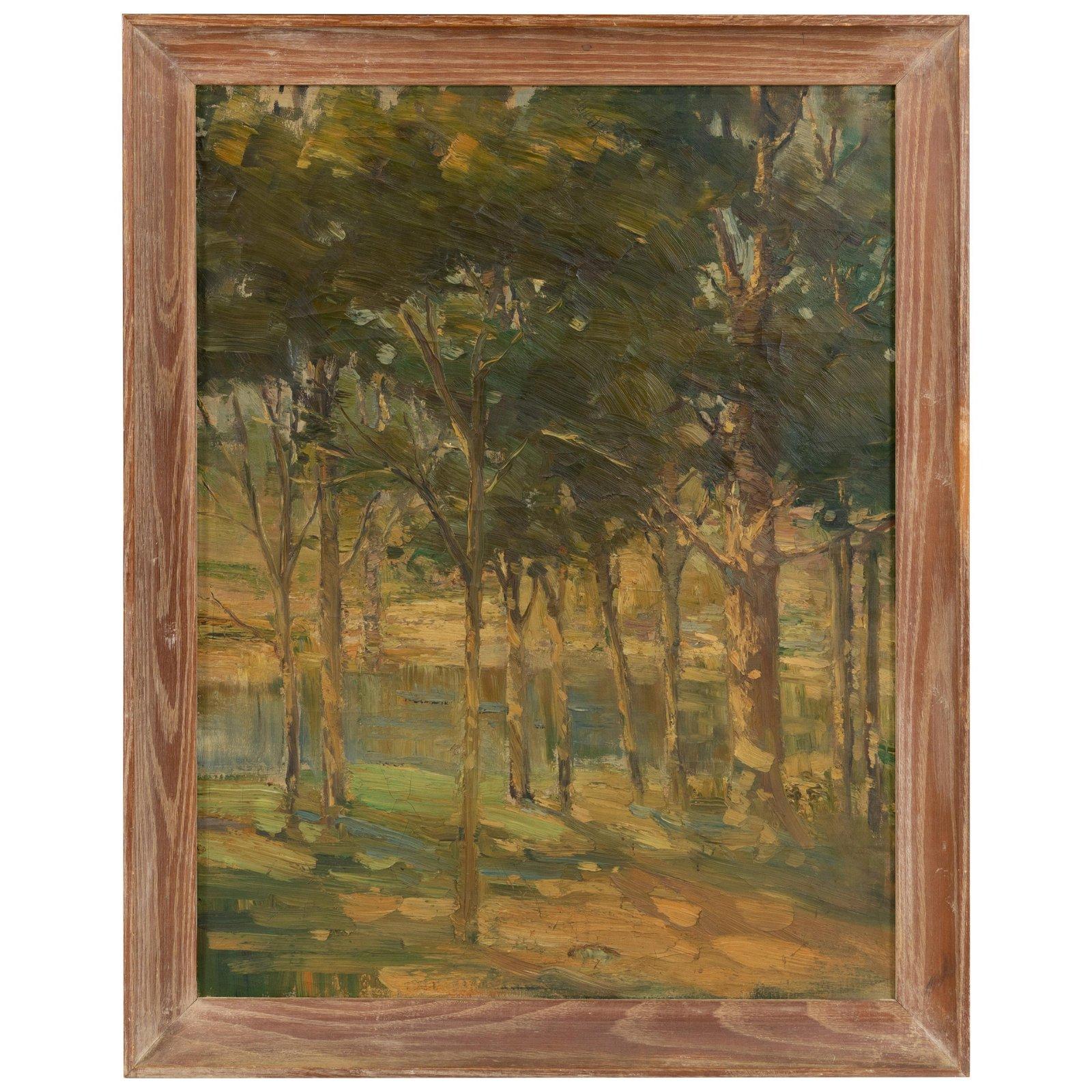 Woodland Landscape - Oil on Canvas