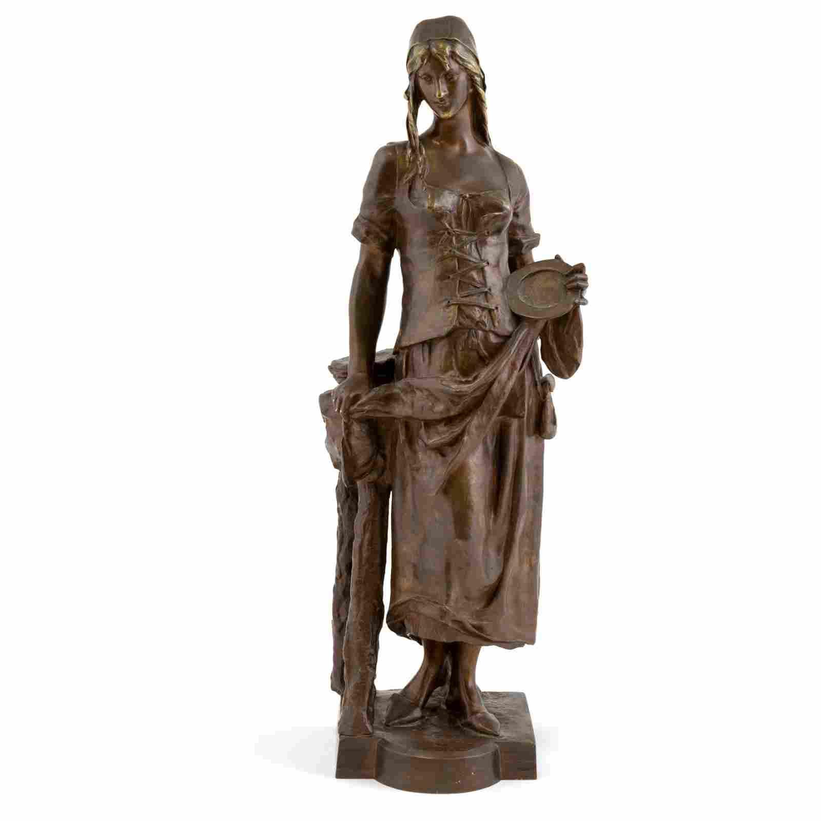 Eugene Marioton - Bronze Woman