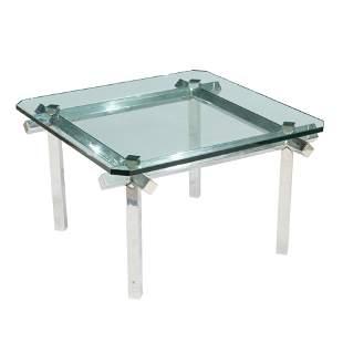 Chrome Cruciform Coffee Table