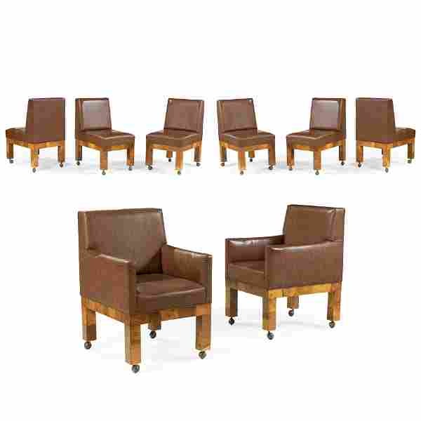 Paul Evans - Patchwork Burl Dining Chairs- 8