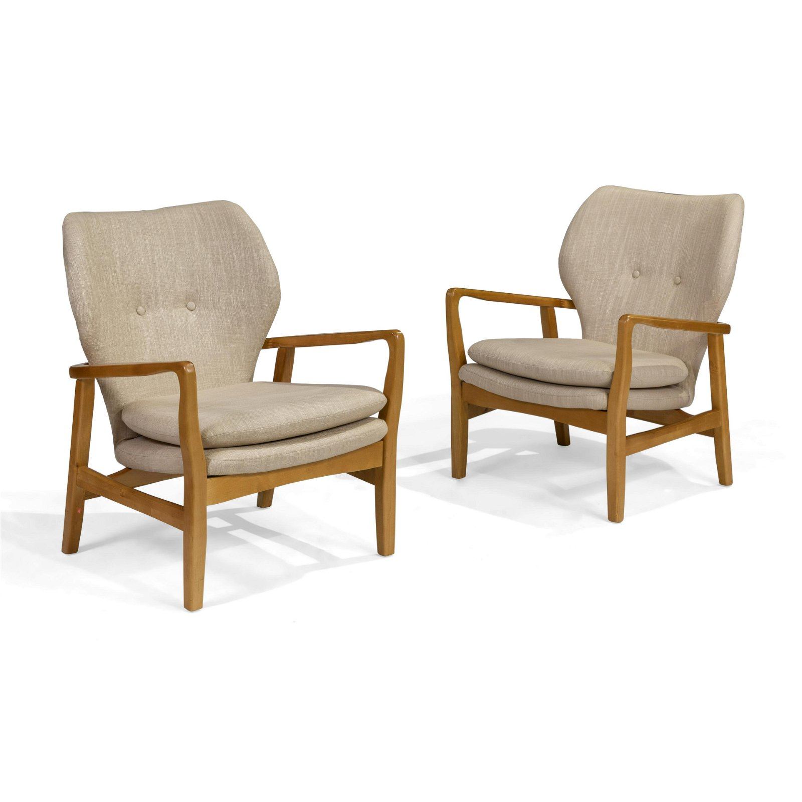 Danish Style Contemporary Lounge Chairs