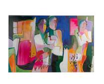 Ali Gokar (Attr.) - Large Oil on Canvas