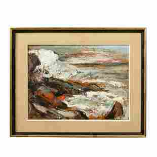 George Schwacha - Oil on Board Seascape