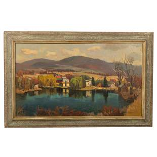 V. Maxwell - River Scene Oil on Canvas