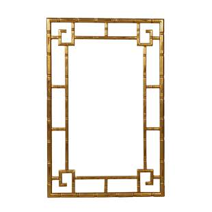 Faux Bamboo Style Gold Leaf Frame