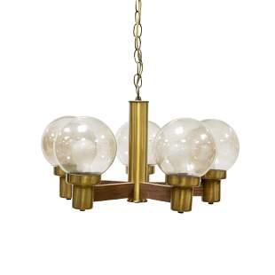 Mid Century 5 Light Globe Lamp