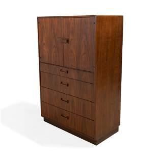 Milo Baughman - Tall Walnut Cabinet
