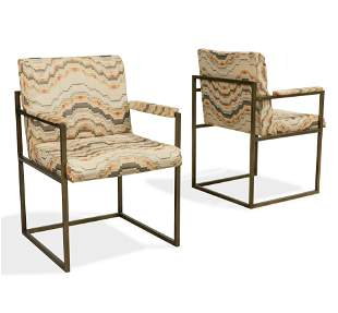 After Paul McCobb - Brass Arm Chairs