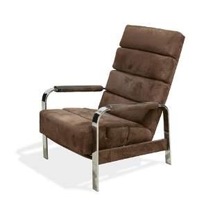 Milo Baughman - Chrome Lounge Chair