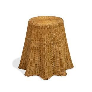 Draped Wicker Table