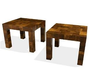 Paul Evans - Patchwork Side Tables - SIGNED