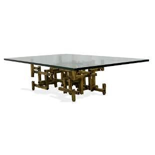 Brutalist Gilt Coffee Table