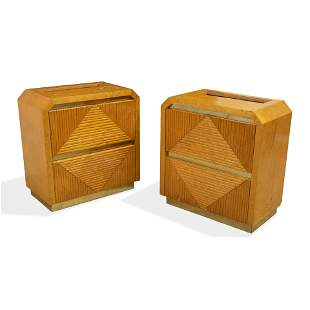 Faux Bamboo Nightstands
