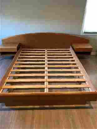 Danish Teak Queen Platform Bed