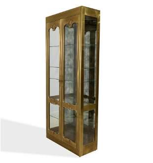 Mastercraft - Brass Curio Cabinet
