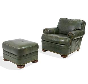 Hancock & Moore - Leather Chair and Ottoman
