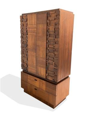 Brutalist Walnut High Chest