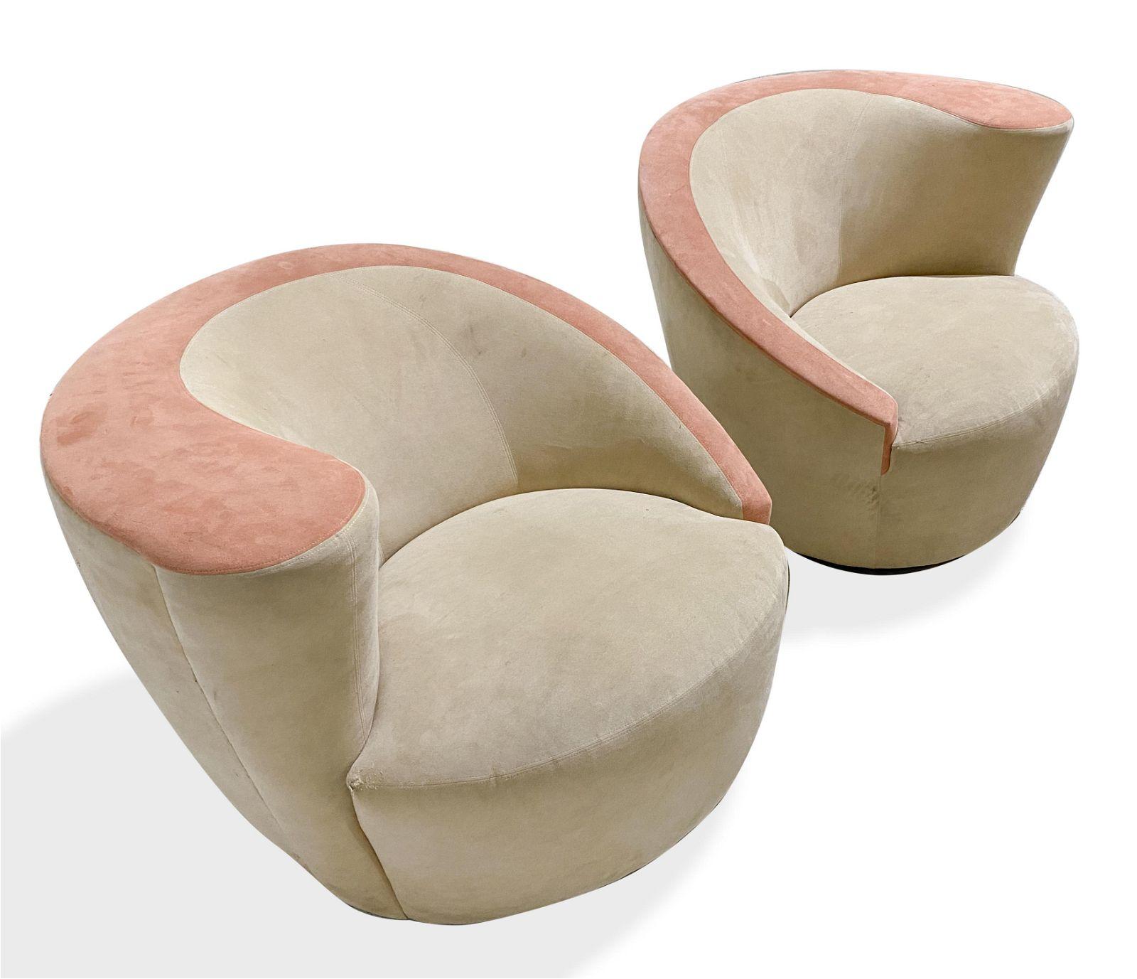 Vladimir Kagan - Nautilus Swivel Chairs - Pair