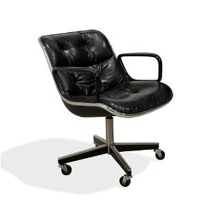 Charles Pollock - Knoll - Leather Desk Chair