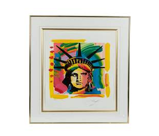 Peter Max - Statue of Liberty Lithograph