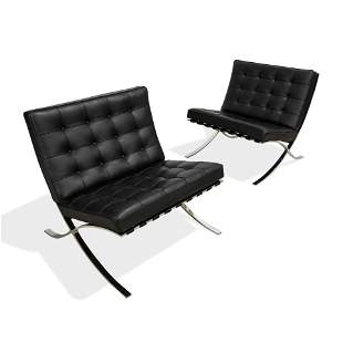 Knoll - Barcelona Leather Chairs