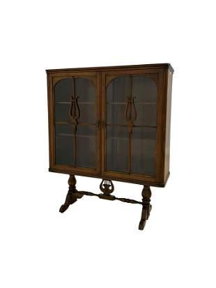 Walnut Curio Cabinet