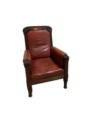 European Leather Lounge Chair
