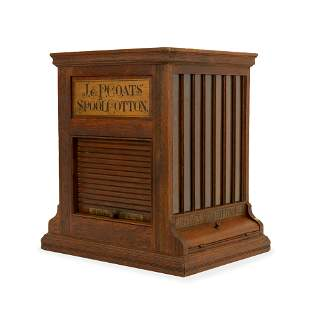 J & P Coats - Oak Spool Cotton Thread Cabinet