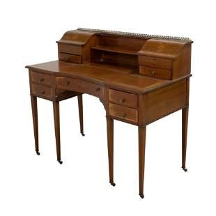 Inlaid Edwardian Mahogany Desk