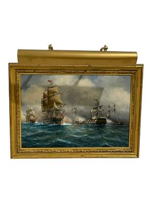 Luca Papaluca - Clipper Ships Oil on Canvas