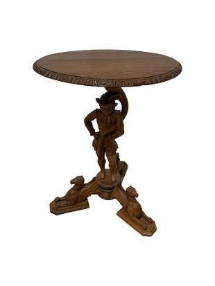 Full Figred Carved Oak Table